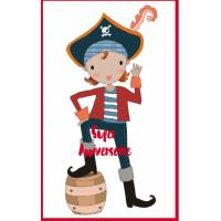Carte simple artisanale Bon Anniversaire Pirate Jack