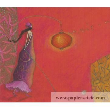 Carte simple Gaelle Boissonnard  14 x 15,5 La Lanterne