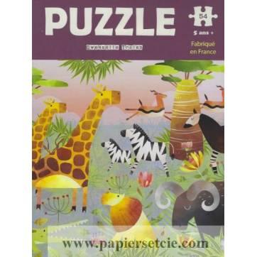 Carte Puzzle Gwenaëlle Trolez la Savanne