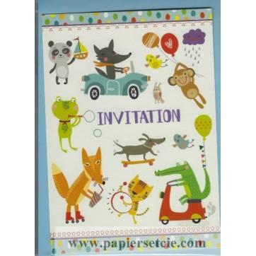 Invitations Animaux de Gwenaëlle Trolez Pack de 6