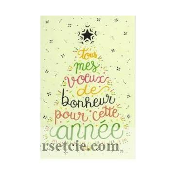 Carte  simple Elise Formarier Tous mes Voeux de Bonheur...
