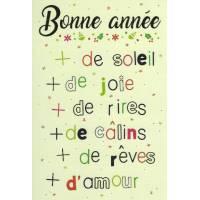 Carte simple Elise Formarier Bonne Année, plus de....