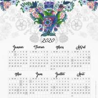 Calendrier 2020 Marie Pierre Emorine L'oiseau bleu