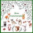 """Carte artisanale Bon Anniversaire Magique """"Les Licornes"""""""