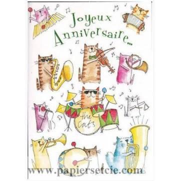 Carte Anniversaire Orchestre Des Chats Joyeux Anniversaire