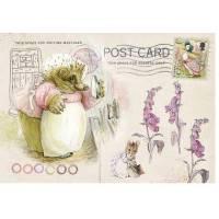 Carte artisanale Vintage Beatrix Potter Maman Hérisson au repassage