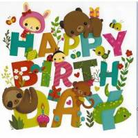 Carte Elen Lescoat Happy Birthday Les Animaux