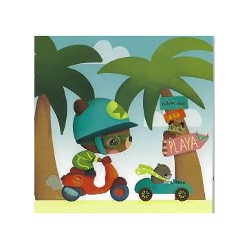 """Carte Elen Lescoat """"Vamos a la Playa"""""""