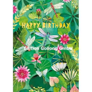 "Carte Mila Marquis ""Happy Birthday"" La Libellule"