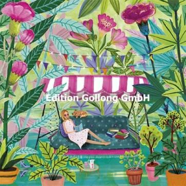 Carte Mila Marquis La jeune Femme dans un Jardin de Fleurs