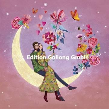 Carte Mila Marquis Les amoureux sur le croissant de lune