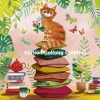 Carte Mila Marquis Le Chat roux sur les coussins