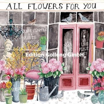 """Carte Cartita Design """"Flowers for you"""""""