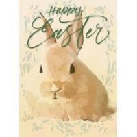 """Carte de Pâques """"Happy Easter"""" Le Lapin"""