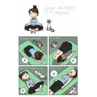 """Carte Chat """"Moi, mon chat et le Yoga"""""""