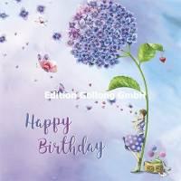 Carte Nina Chen Happy Birthday sous l'Hortensia