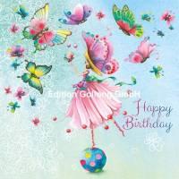 Carte Nina Chen Happy Birthday Les bulles de savon Coeur