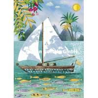Carte Mila Marquis Bateau à voile sous les Tropiques