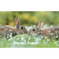 "Carte de Pâques ""Joyeuses Pâques"" Couple de Lapins"