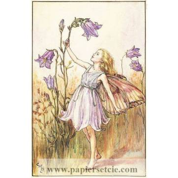 "Carte ""Fées des Fleurs"" Cicely Mary Barker ""Campanule violette"""