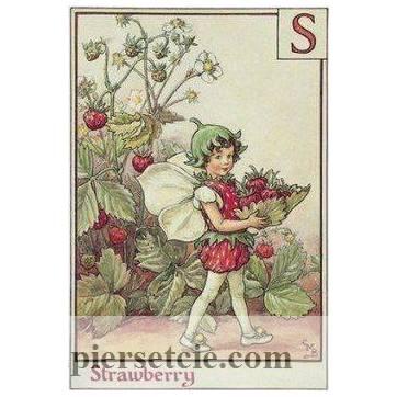 "Carte ""Fées des Fleurs"" Cicely Mary Barker ""Fraises"""