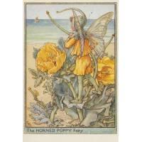 """Carte """"Fées des Fleurs"""" Cicely Mary Barker """"Pavot jaune"""""""