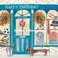 Carte Cartita Design Happy Birthday Magasin pour Hommes