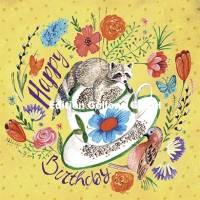 Carte Cartita Design Happy Birthday Raton Laveur