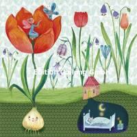 Carte Mila Marquis L'Elfe et le champ de Tulipes