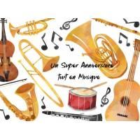 Carte Anniversaire enfants Bon Anniversaire  en Musique