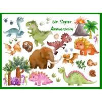 Carte Anniversaire enfants Bon Anniversaire  Les Dinosaures