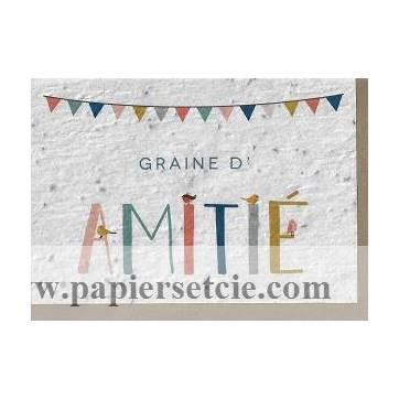Carte à planter Graine d'Amitié, Fleurs des champs