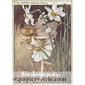 Carte Anniversaire Fées des Fleurs Narcisse