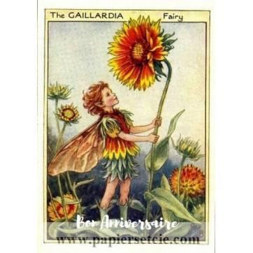 Carte Anniversaire Fées des Fleurs Gaillardia