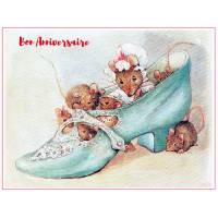 Carte Anniversaire Beatrix Potter Souris et Chaussures