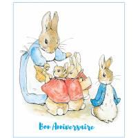 Carte Anniversaire Beatrix Potter Lapins départ à l'école