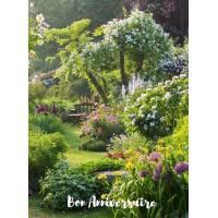 Carte Anniversaire Jardin anglais au Printemps