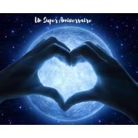 Carte Anniversaire Signe Coeur devant la Lune