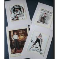 "Cartes enfants, ""Boys"" 1 de Norman Rockwell, paquet de 4 cartes assorties"