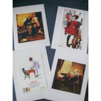 "Cartes enfants, ""Girls"" 1 de Norman Rockwell, paquet de 4 cartes assorties"