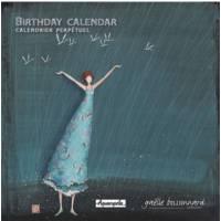 Calendrier d'anniversaires perpétuel Gaëlle Boissonnard Sous la pluie