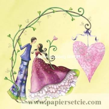 Carte Nina Chen Amoureux et Coeur sur Rameau
