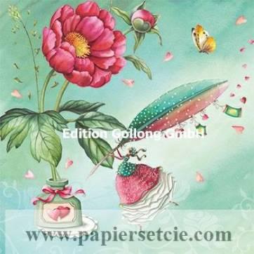 Carte Nina Chen La jeune Femme et la Plume à écrire