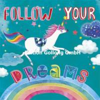 "Carte Mila Marquis ""Follow your dreams"" la Licorne"