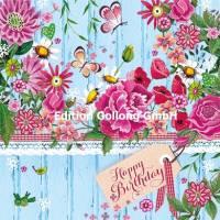 Carte Anniversaire Cartita Design Etagère fleurie