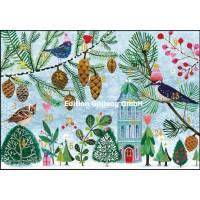Carte calendrier de l'Avent Mila Marquis Les Oiseaux