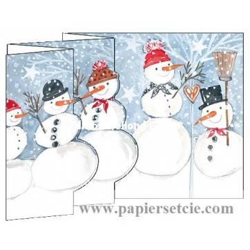 Carte Joyeux Noël et Nouvelle Année 3 D Les Maisons