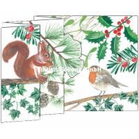 Carte Nouvel An 3 D Ecureuil