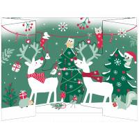 Carte Joyeux Noël et Nouvelle Année 3 D Les Rennes