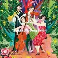 Carte Joyeux Noêl ou Nouvel an Caroline Bonne Les Musiciens